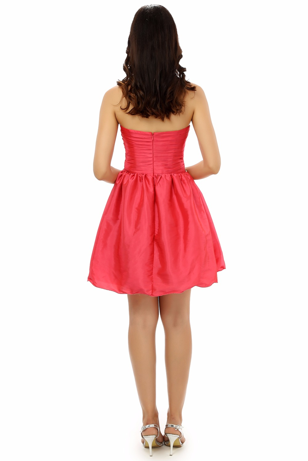 HSDYQ HOME Summer Red Sweetheart A-Line Homecoming Dresses Simple Crystal Off the Shoulder Mini Party dress