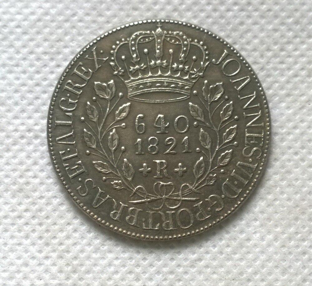 1821 Бразилия 640 Reis МОНЕТА КОПИЯ БЕСПЛАТНАЯ ДОСТАВКА