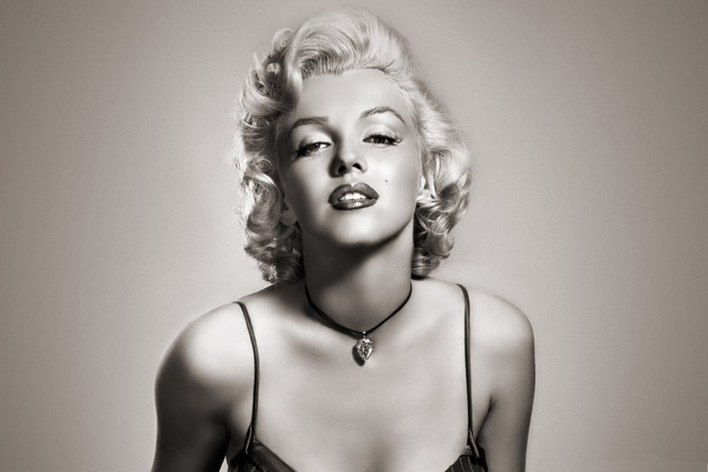 Marilyn Monroe classic black white photo PRW098 wall art room decor ...