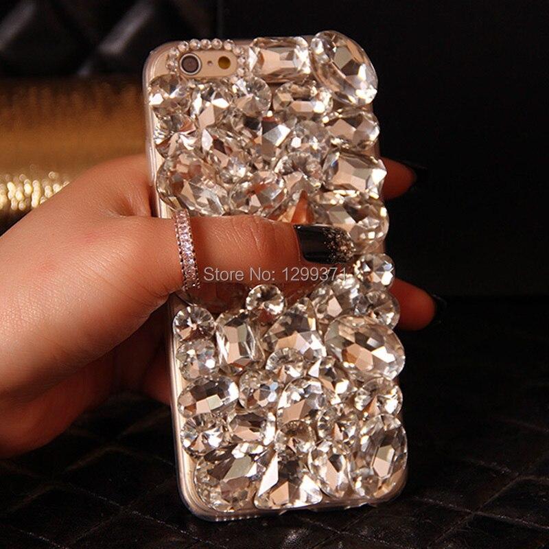 Bling Berlian Telepon Kasus Cover Untuk Iphone XS Max XR X 8 7 6 S - Aksesori dan suku cadang ponsel - Foto 2