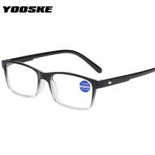 YOOSKE gafas clásicas de lectura de las mujeres los hombres Anti-Luz Azul gafas Vintage de la presbicia gafas de hipermetropía + 1,0 de 1,5 de 2,0