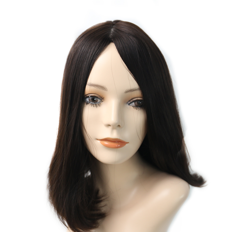 Kosher Wigs Silk Base Jewish Wigs For Women Double Drawn European Human Hair Wigs 150 Density Color #4 You May Remy Full Ends