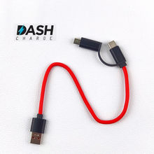 2 in 1 Red Short Usb Type C Dash Charger cable For OnePlus 5t/5/3t/3/6/6t Fast Charge Cable For Oppo R9 R11 r9s R15 r17 phone(China)