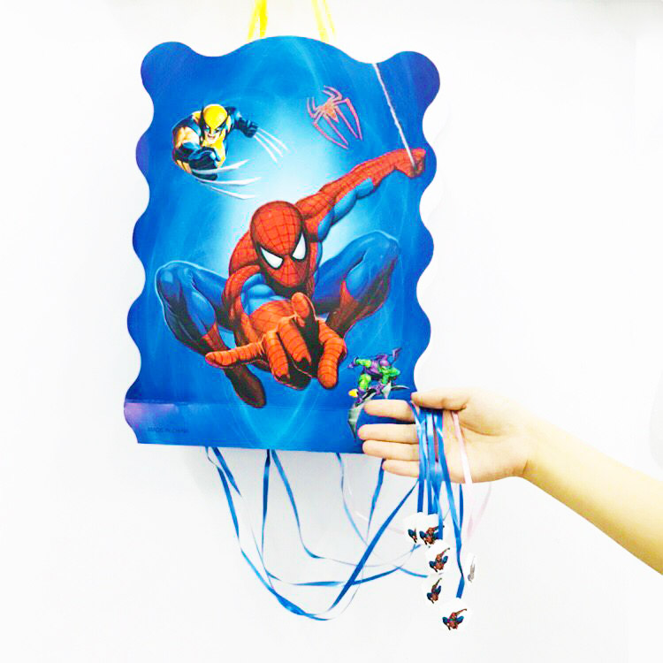 40*30cm/set Kids Birthday Spiderman Party Supplies Cartoon Theme Paper Pinata Disposable Baby Shower Superhero Party Decoration