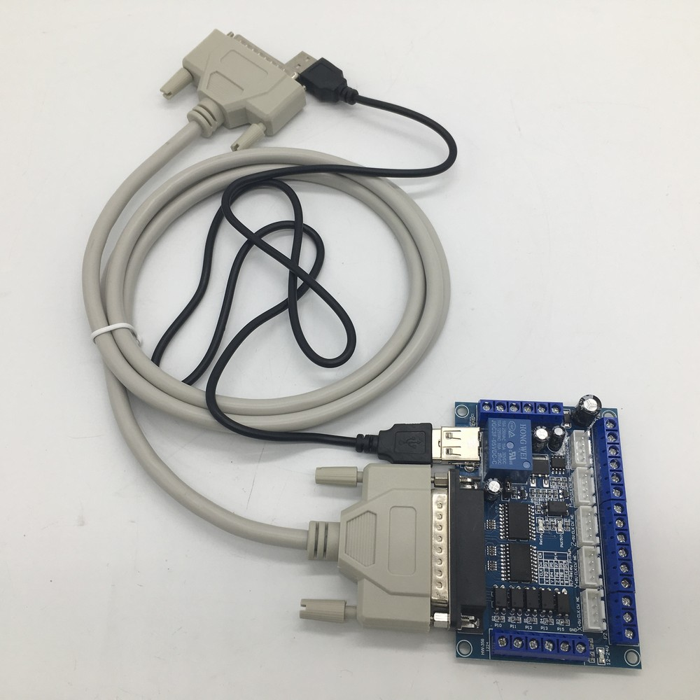 <font><b>5</b></font> Axis CNC Breakout Board Interface with <font><b>USB</b></font>+ <font><b>25</b></font> Pins Cable for Stepper Driver MACH3 CNC Router Board Control 3D printer image