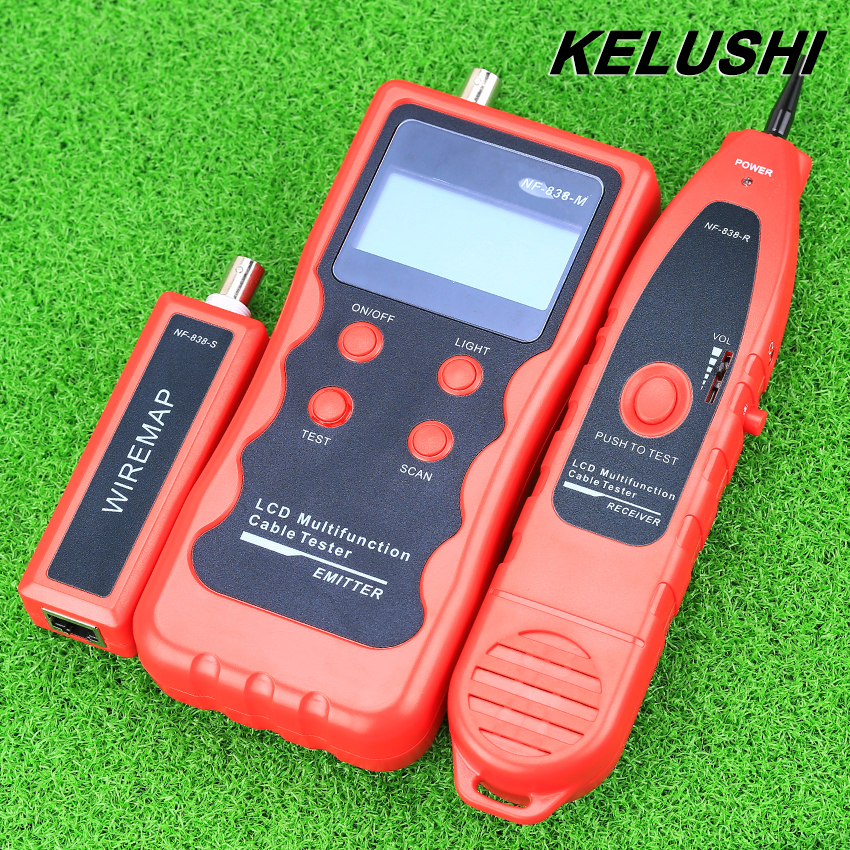 KELUSHI NF-838 Network LAN Cable Tester Tracker Phone LAN BNC Cable Finder USB RJ11 RJ45 Wire Tracer  цены