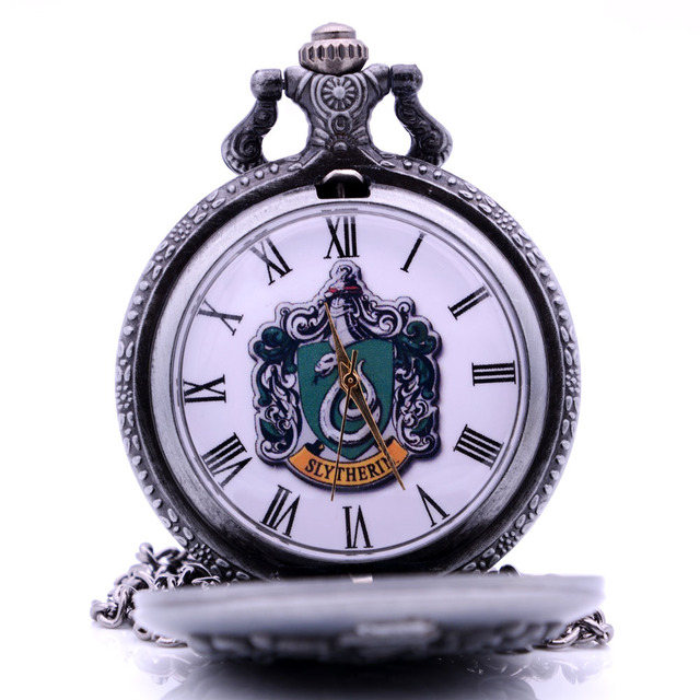 New Slytherin Harry Potter Hogwarts College Mens Quartz Pocket Watch Analog Pend