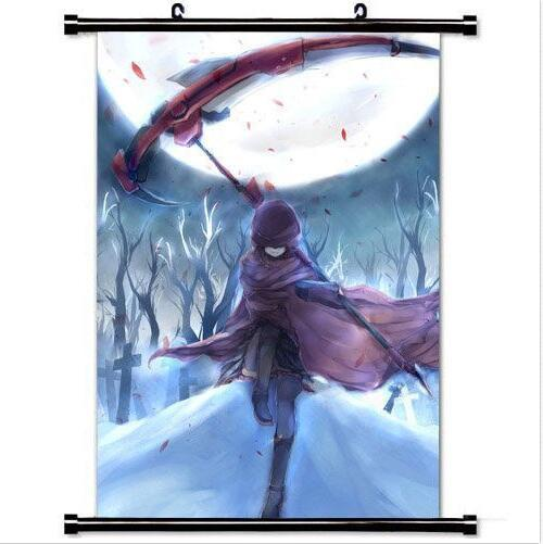 Decor Trendy Handsome Anime Poster  Art Cosplay Poster with Ruby Rose Rwby Home Decoration Japanese cartoon