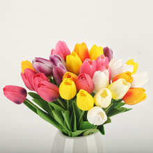 Rose Pink Silk Tulip Artificial Flowers Bouquet 1pc Cheap Fake Flowers for Home Hotel