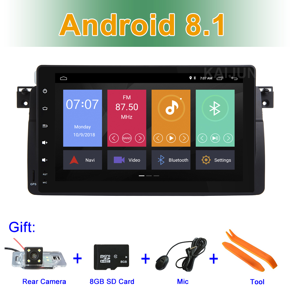 9 Android 8.1 Car DVD Stereo Radio for BMW 3 Series E46 M3 Rover 75 MG ZT with BT WIFI GPS