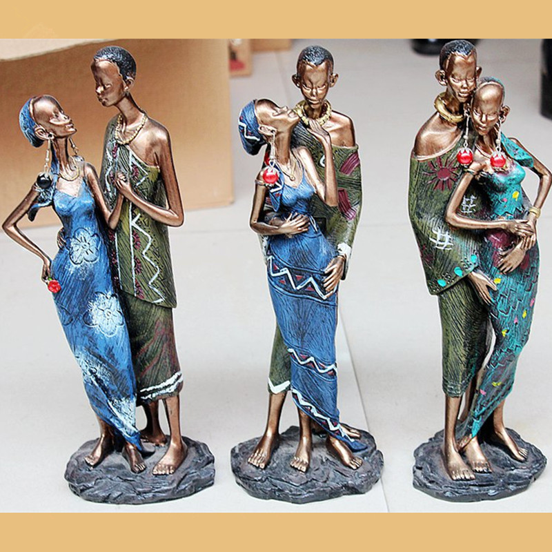 Creative Home Decoration Accessories African Black Couple South