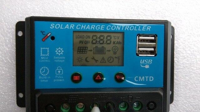 A v v lcd regolatore di carica solare con regolatore auto