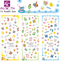 3sheet/set HOT265-267 Easter woman design Water decal Nail Sticker design Nail Art Decals Water Transfer sticker Tips