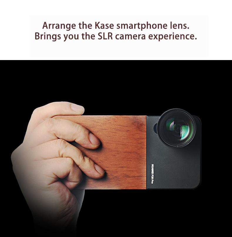 Kase Mobile Phone Lens Wooden Case Holder