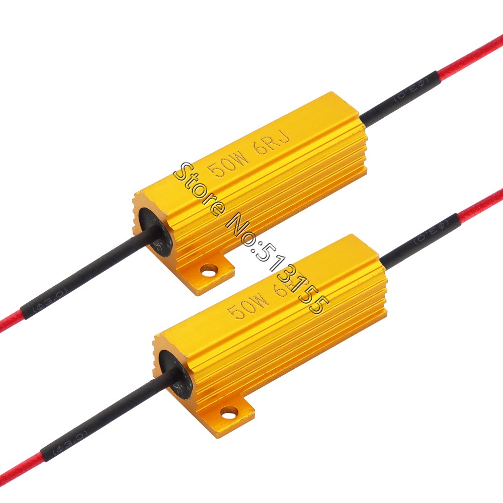 2pcs Universal Add On 50w 6 Ohm Led Load Resistor For Car Light Installing Wiring Harness In A Bmw 1 2 3