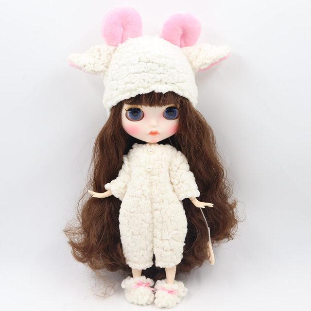 شلوار گوسفند عروسک Neo Blythe با کلاه و کفش