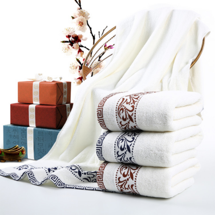 70 140cm Embroidered Cotton Bath Towels For Adults Plain Designer Shower Terry Bath Towels