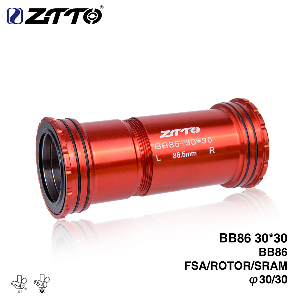 ZTTO BB86 30 Press Fit Bottom Brackets 4 Bearings for Road Mountain bike 30mm Crankset BB chainset ztto bsa30 bb68 bsa 68 73 mtb road bike external bearing bottom brackets for bb rotor raceface slk bb386 30mm crankset