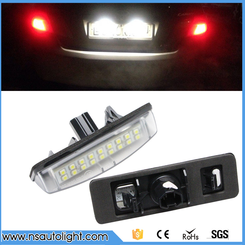 LED License Plate Lights For Toyota Camry Avensis Verso Lexus gs300 IS300 LS430 RX330 ES Aurion Prius Car Parking Accessories купить дешево онлайн