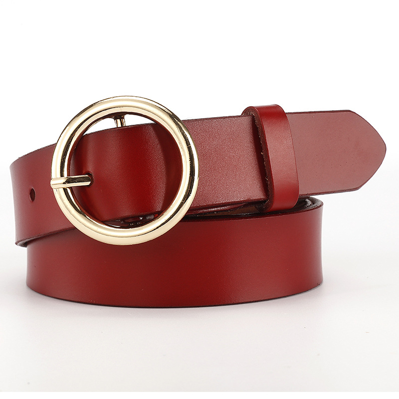 Designer Fashion Women's Belts Genuine Leather Brand Straps Female Waistband Buckles Luxury Casual Jeans Belt