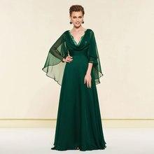Tanpell hunter green evening dress v neck sleeveless zipper-up floor lenth women party gown a line