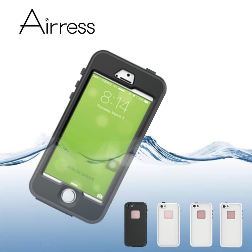 imágenes para Airress séptima IP68 Impermeable Teléfono Resistente A Prueba de Choques A Prueba de Nieve Cubierta de la Caja para el iphone SÍ 5S Con Clave de Acceso para Auricular De Carga