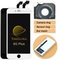 5 pcs dhl livre lcd do telefone móvel para o iphone 6 plus display lcd com tela de toque digitador assembléia substituição preto branco