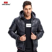 MALIDINU 2019 Men Down Jacket Winter Down Coat Brand Thick Warm Winter Jacket Men Detachable Hood Windproof Canada Winter Jacket