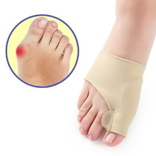 цена на 1pair Professional Toe separator Bunion Corrector Splint Toe Straightener Brace For Hallux Valgus Pain Relief Health Tools