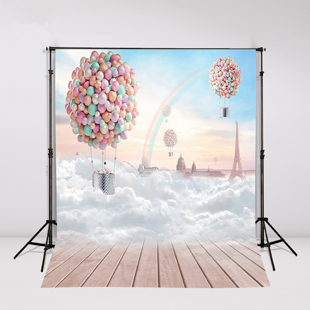 2017 Weding Photography Background Cloth Vinyl Backdrops For Photography Balloon Backgrounds For Photo Studio Fotografia retro background christmas photo props photography screen backdrops for children vinyl 7x5ft or 5x3ft christmas033