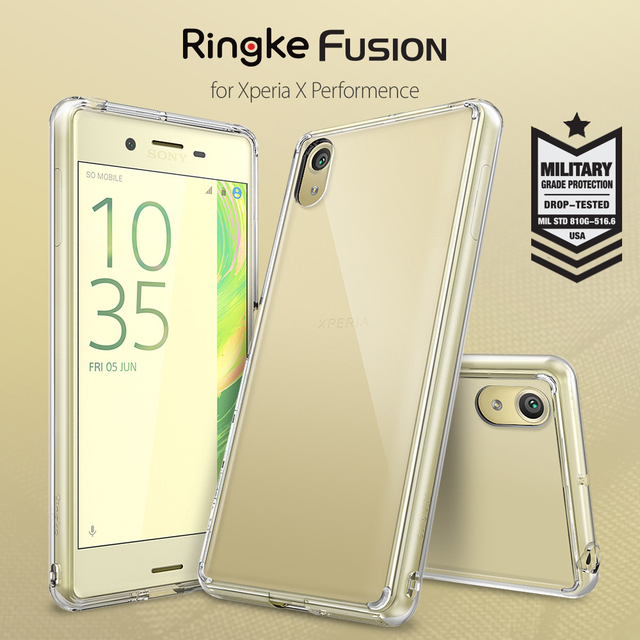 100% Orignal Ringke Fusion Case for Xperia X Performance / Xperia XP - Clear PC Back Panel Cover For Sony Xperia X Performance