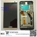 Оригинал Серый/Золото Полный ЖК-Дисплей С Сенсорным Экраном Дигитайзер Ассамблеи + рамка Для HTC one E9 + E9 plus E9pt E9Pw бесплатная доставка + Трек