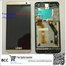 Original Grey/Gold Full LCD Display Touch Screen Digitizer Assembly+frame For HTC one E9+ E9 plus E9pt E9Pw free shipping+Track