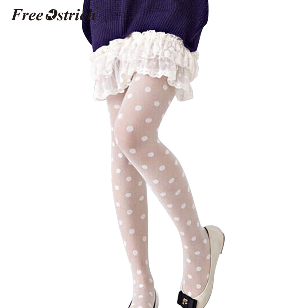 Free Ostrich Stocking Sexy Women Sheer Lace Big Dot Pantyhose Stocking High Knee Tights Dots Stockings Suspenders Dropshipping