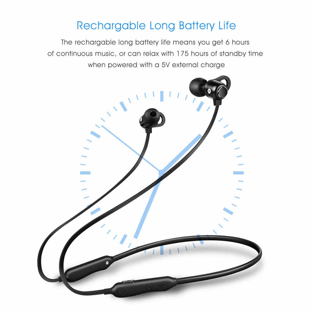 VONTAR bez słuchawki przewodowe kulakl k do biegania z mikrofonem odporny na pot ciężki bas Stereo bluetooth słuchawki zestaw słuchawkowy dla aktywnych