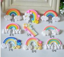 Rainbow Theme Resin Accessories Mobile Phone Shell DIY Material Refrigerator Stickers Home Decoration