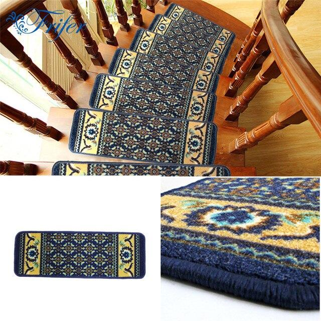 5pcs/set Stair Carpet Sets Slip Resistance Stair Tread Mats Step Rug For  Stair 22x65cm
