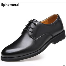 Male shoes lace-ups for working microfiber dress footwear Ephemeral brand 2017 new arrivals man loafers black brown plus size 48