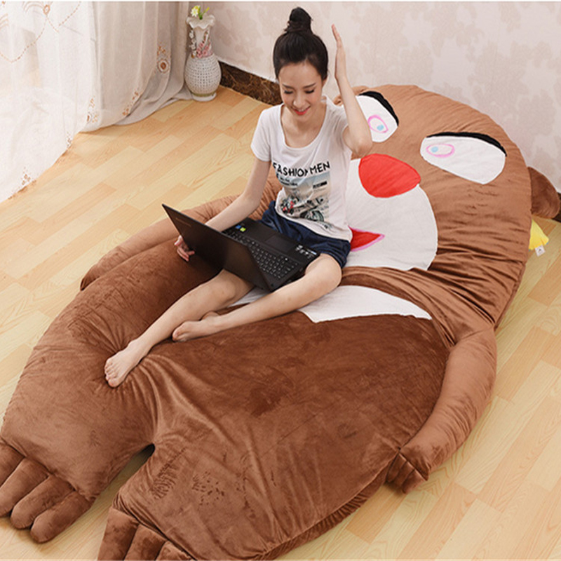 Fancytrader Huge Plush Bear Beanbag Soft Stuffed Double Bed Tatami Mattress Sofa  with Cotton 230cm X 160cm fancytrader soft huge funny pikachu beanbag with sleeping bag bed carpet tatami mattress sofa ft90267