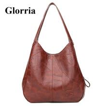 Glorria 2019 Hobos Bag Women Patchwork Shoulder Handbags Large Crossbody Tote Retro Leather Bags for women Sac A Main