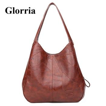 b4100c844 Sisjuly 2019 mujeres vagabundos bolsa de hombro bolsos retazos Bolsos Mujer  bandolera grande bolso Retro bolsos