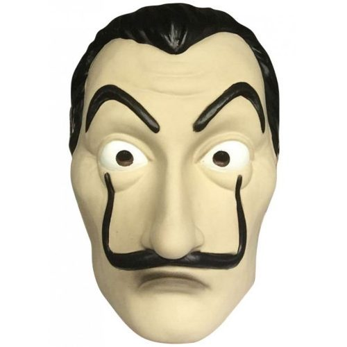 2018 Hot La Casa De Papel Face Mask Salvador Dali Cosplay Movie Mask Realistic latex Mask for Halloween Birthday Party