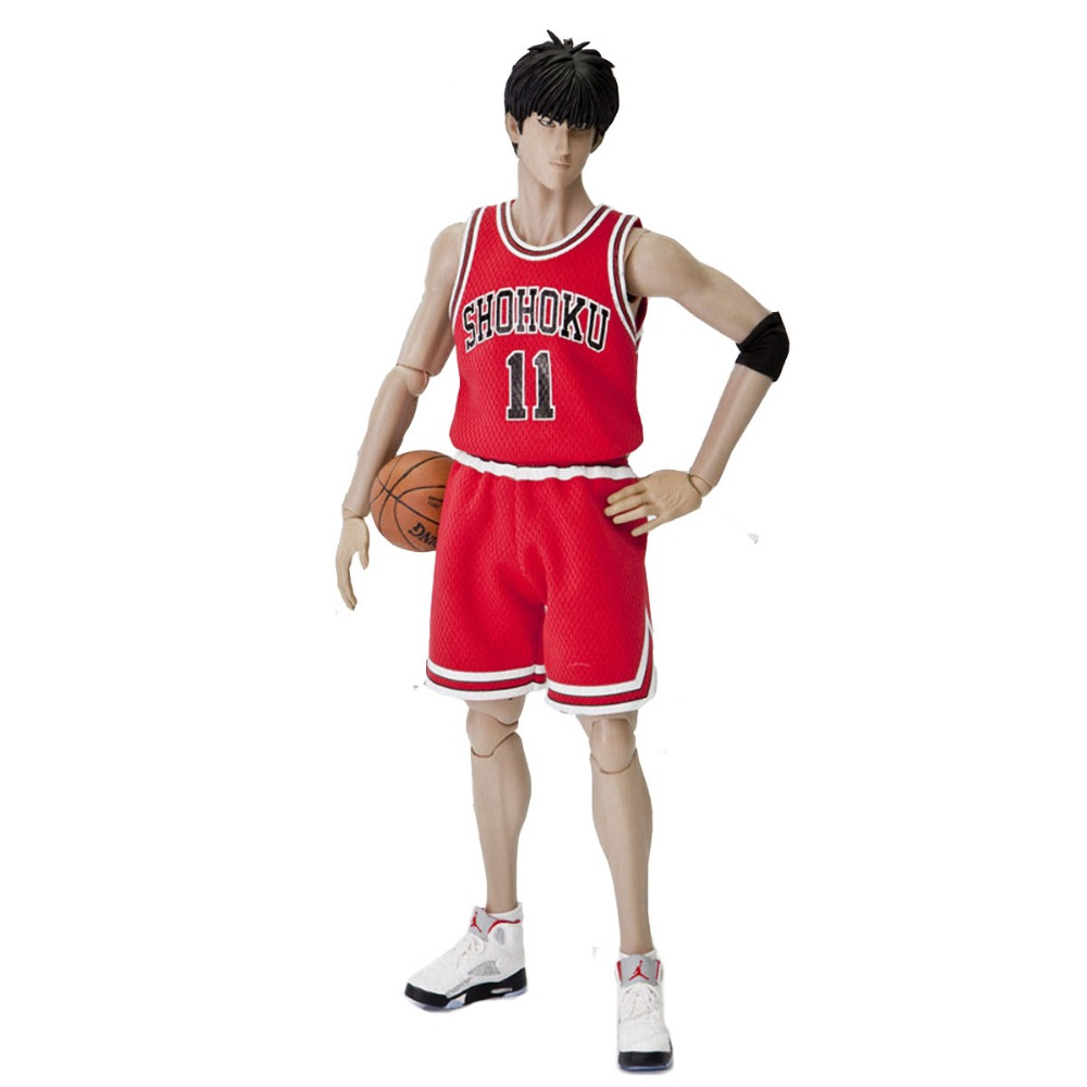 Slam Dunk Rukawa Kaede 11 Collectible Action Figure 1/6 Scale Free Shipping huong anime slam dunk 24cm number 11 rukawa kaede pvc action figure collectible toy model brinquedos christmas gift