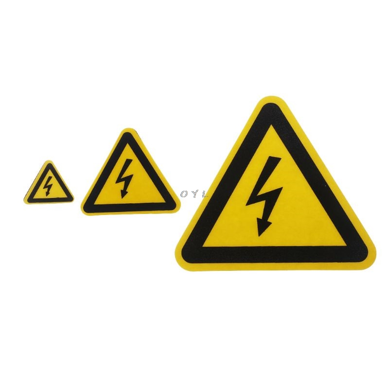 Ultra Strong Adhesive /& Rip Proof Danger Electrocution Risk Labels