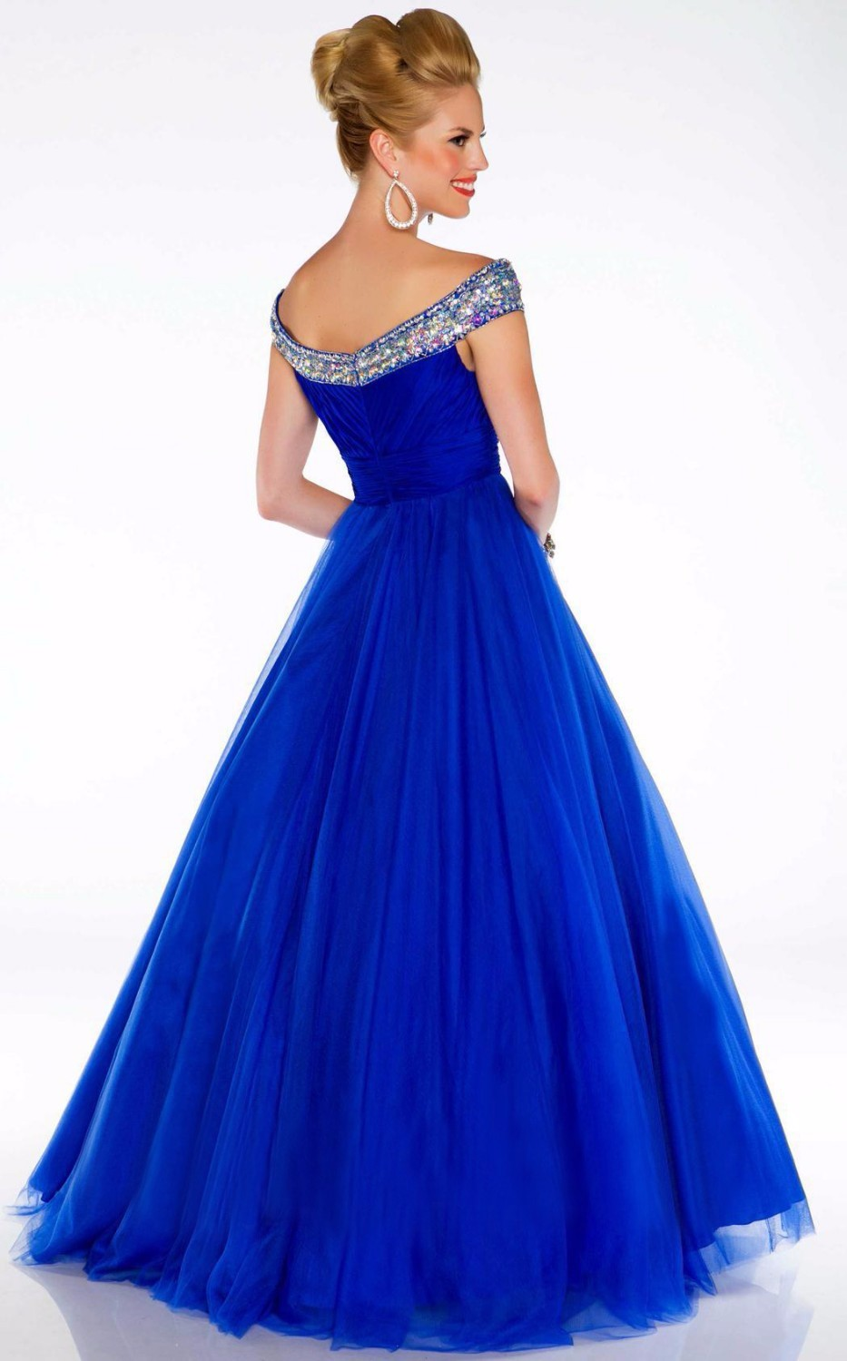 New-Arrival-2014-Sexy-Royal-Blue-Red-White-V-neck-A-Line-Modest-Evening-Pageant-Dresses (1)