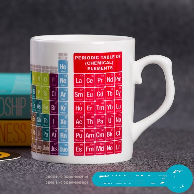 Interesting periodic table of chemical elements ceramic cup interesting periodic table of chemical elements ceramic cup personality chemical element ceramic mug students featured cup urtaz Gallery