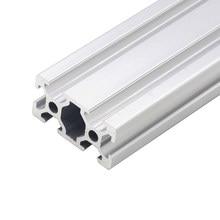 Perfil de aluminio Industrial de estándar europeo 2040, carril lineal de 100-800mm de longitud para impresora 3D CNC, 1 ud.