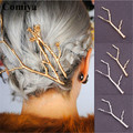 wholesale gold/silver plated charm Hairpins for women hair accessories casamento bijoux de tete headband newest fashion hairpin