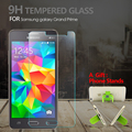 Protector de pantalla de cristal templado para samsung galaxy grand prime g530 g5308w protector 9 h resistente a los arañazos película de pantalla + 1 regalo de pie