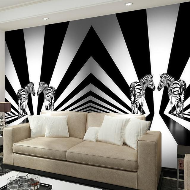 Zebra in bianco e nero personalità creativa soggiorno camera da ...